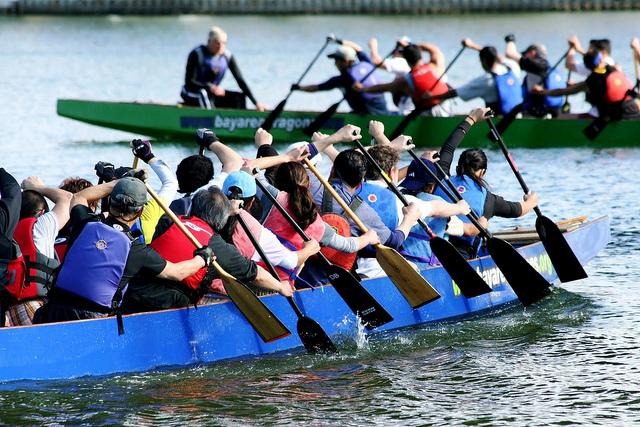 Drachenboote (Sommerfest-Ideen)
