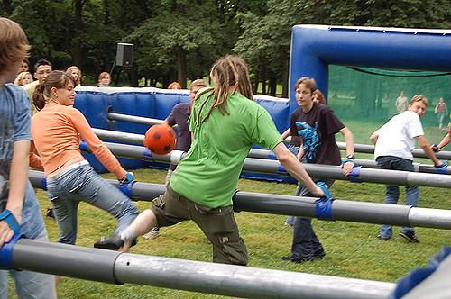 Menschenkicker (Sommerfest-Ideen)